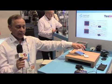 PSDtv - Dave Pratyush of the AirFuel Alliance shows a wireless charging demo