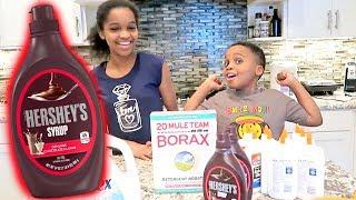 DIY SLIME Hershey Chocolate Syrup FAIL! Shasha and Shiloh - Onyx Kids