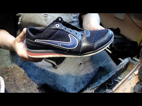 кроссовки Nike, ремонт подошвы