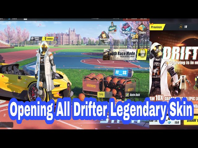 Opening  All Drifter Legendary Skin / Rules Of Survival