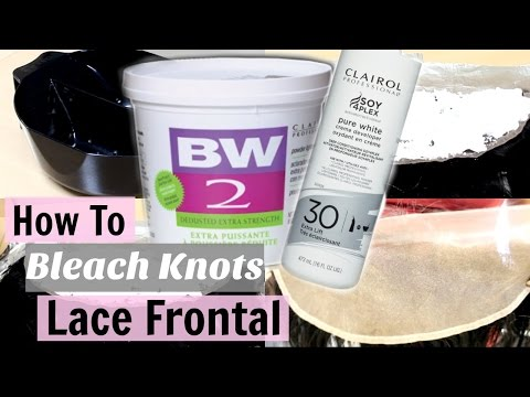How To| Bleach Knots on a Lace Frontal/Lace Closure | Domonique Utley