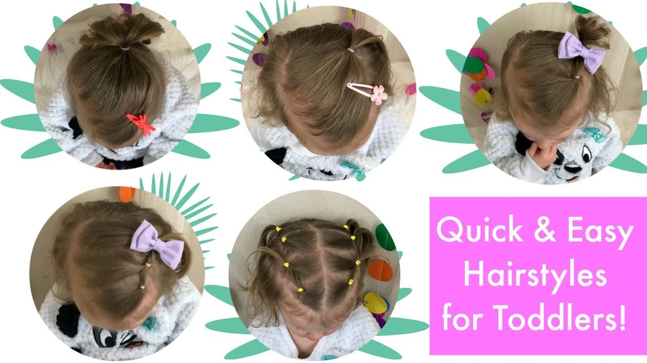 5 Quick And Easy Toddler Hairstyles Thin Hair Youtube
