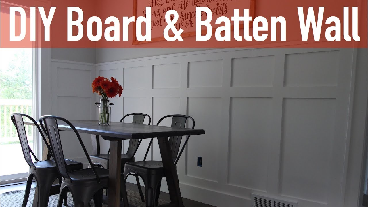 How to Install a Board and Batten Wall  YouTube