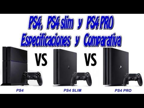 ps4 vs ps4 slim vs ps4 pro especificaciones comparativa y precio espa ol cpu gpu ram y. Black Bedroom Furniture Sets. Home Design Ideas