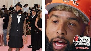 Odell Beckham Has Everyone Going CRAZY After He Showed Up At The Met Gala Wearing This??
