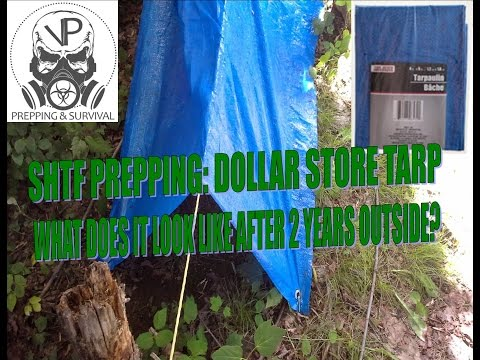 SHTF/Bugout Gear- Dollar Store Tarp After 2 Years Outside!