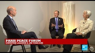 Paris Peace Forum 2018 - Interview with Jim Kim and Christine Lagarde