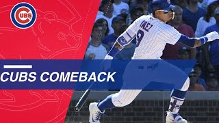 Cubs come back from 7-2 deficit to win 8-7 vs. Reds