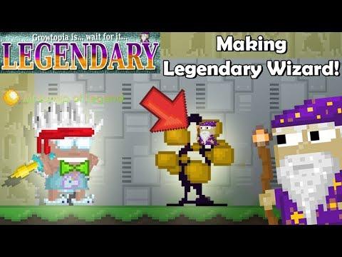 Making Legendary Wizard + Choosing Quest!! [Legendary Blade Ep.1]   GrowTopia