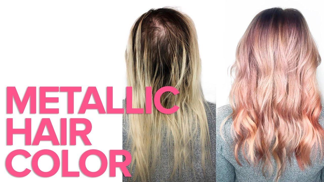 Metallic Hair Color By Matrix Youtube