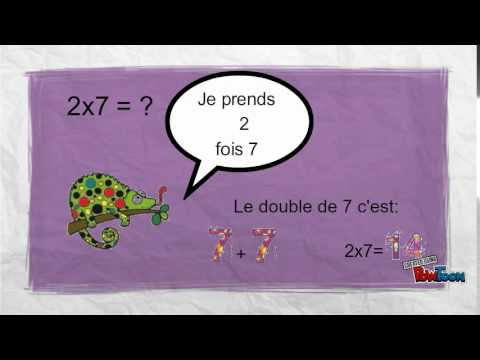 Capsule math ce1 la table de 2 youtube - Youtube table de multiplication ...