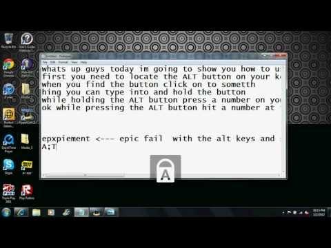 How to make ALT keys on a computer like Ω ☺☻