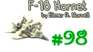 Origami F-18 Money by Elmer A. Norvell - Yakomoga dollar Origami tutorial