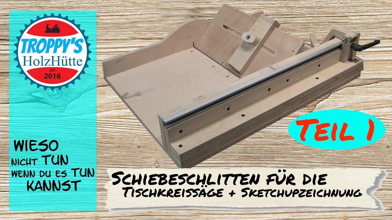 cross cut sled schiebeschlitten f r die tischkreiss ge sketchupzeichnung teil 1 youtube. Black Bedroom Furniture Sets. Home Design Ideas