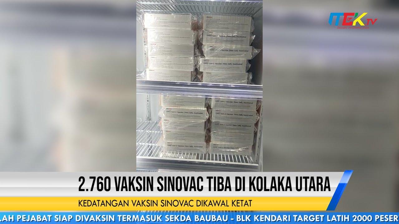 2.760 Vaksin Sinovac Tiba di Kolaka Utara