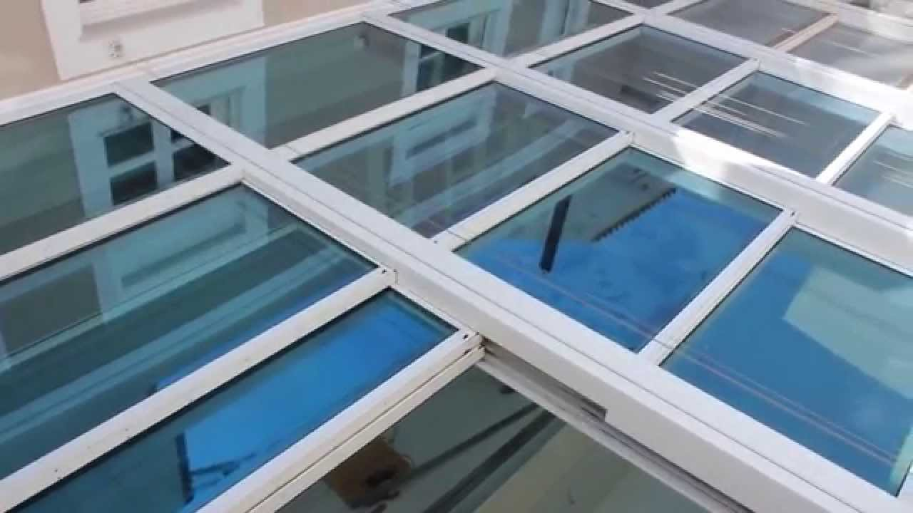 Glasscon Gmbh Retractable Glass Roof With Bullet Proof