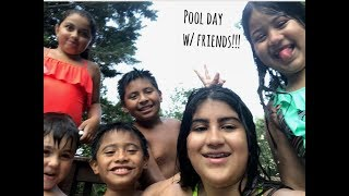 hanging with my friends at the pool vlog #6|Maria Garcia