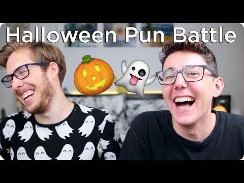 Halloween Pun Battle! | Evan Edinger & MyNamesChai