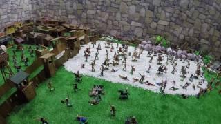 Домашнее Сражения война продолжение мультик солдатиков игра для детей город игрушек Форт Техас 197