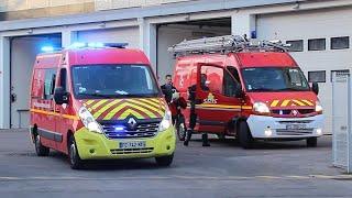 [SDIS 21] Sapeurs Pompiers Dijon VSAV + VTU en urgence // Dijon Fire Service medical response