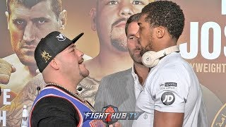 ANDY RUIZ STARES DOWN & TAUNTS ANTHONY JOSHUA TO HIS FACE YELLS
