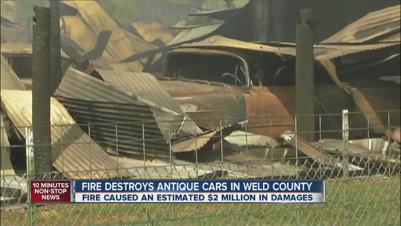 Classic cars damaged in Weld County fire - YouTube