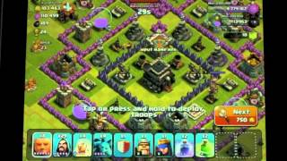 Clash of clans, bit of a chat about may base and lots of max lvl Wizards