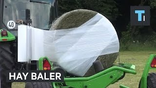 This hay baler is the king of wrap battles
