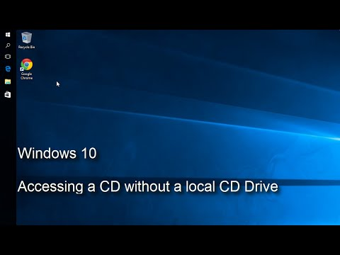 windows 10 accessing a cd without a local cd drive youtube. Black Bedroom Furniture Sets. Home Design Ideas
