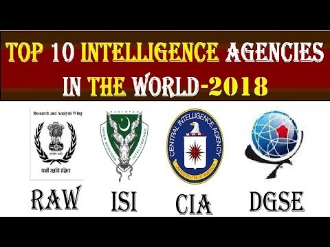 Top 10 Best Intelligence Agencies in the World, 2018