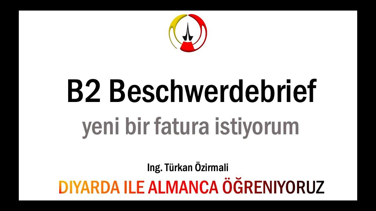 B2 Almanca I B2 Sınav Hazırlık I B2 Prüfung I Beschwerdeemail I