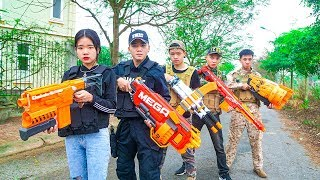 Nerf War :Special S.W.A.T Nerf Guns Counterattack Mafia Group Revenge for Sister Girl Nerf Guns