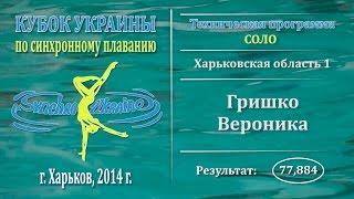 Синхронное плавание, Соло, Гришко Вероника, Кубок Украины 2014, Техническая программа