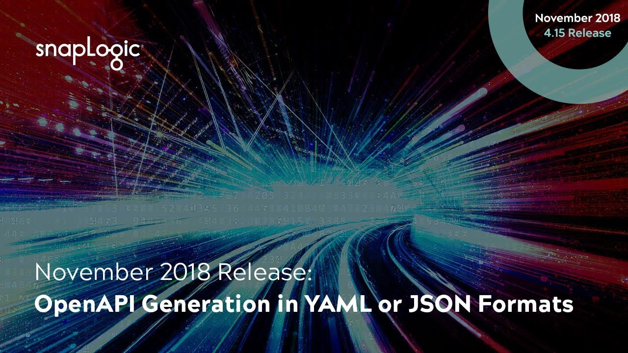 November 2018 Release: OpenAPI Generation in YAML or JSON