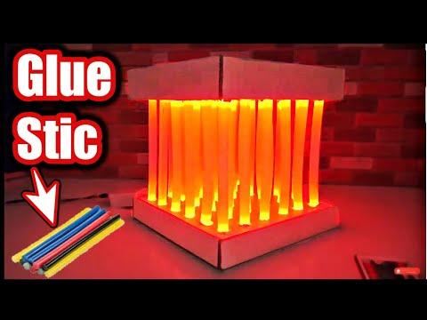 Amazing DIY Led Lamp with Glue Stick and LED Tape Lights