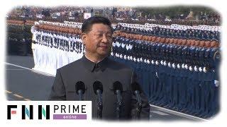 【LIVE】中国建国70年「国慶節」 軍事パレードで最新兵器も