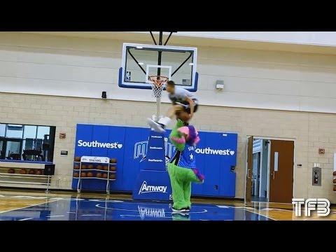 Aaron Gordon 2016 NBA Dunk Contest Practice