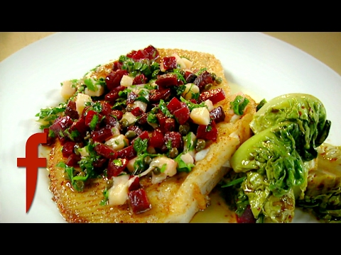 Pan-Roasted Skate with Beetroot and Parmesan   Gordon Ramsay's The F Word Season 3