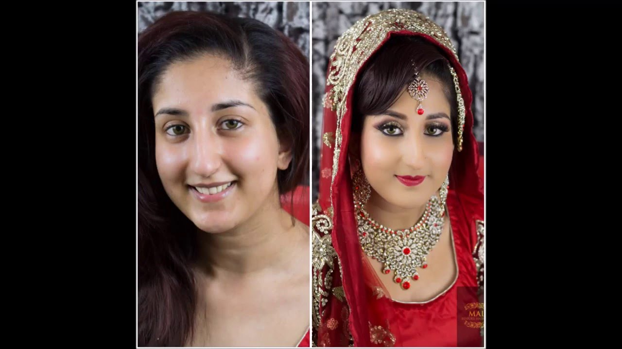 high wycombe asian bridal makeup -wedding traditional red bride