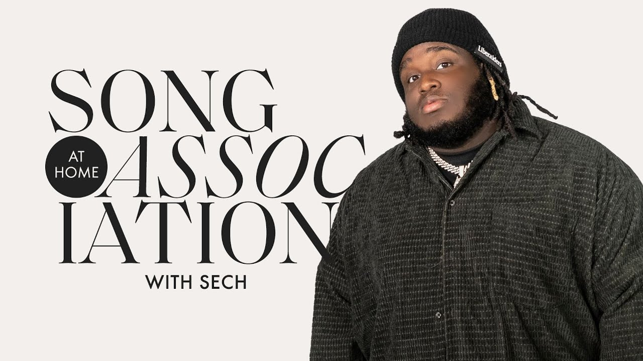"""Sech Raps Travis Scott, The Notorious B.I.G., & Sings """"La Luz"""" in a Game of Song Association"""