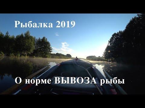 Рыбалка 2019. О норме ВЫВОЗА рыбы.