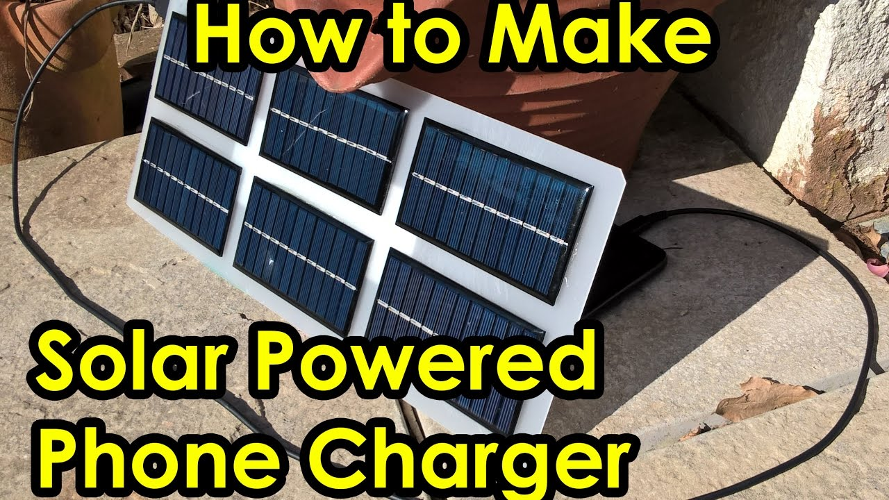 Diy Solar Powered Mobile Cell Phone Amp Drone Battery