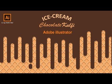 Adobe Illustrator Ice-Cream Effect Background Bangla Tutorial   FRNIIO