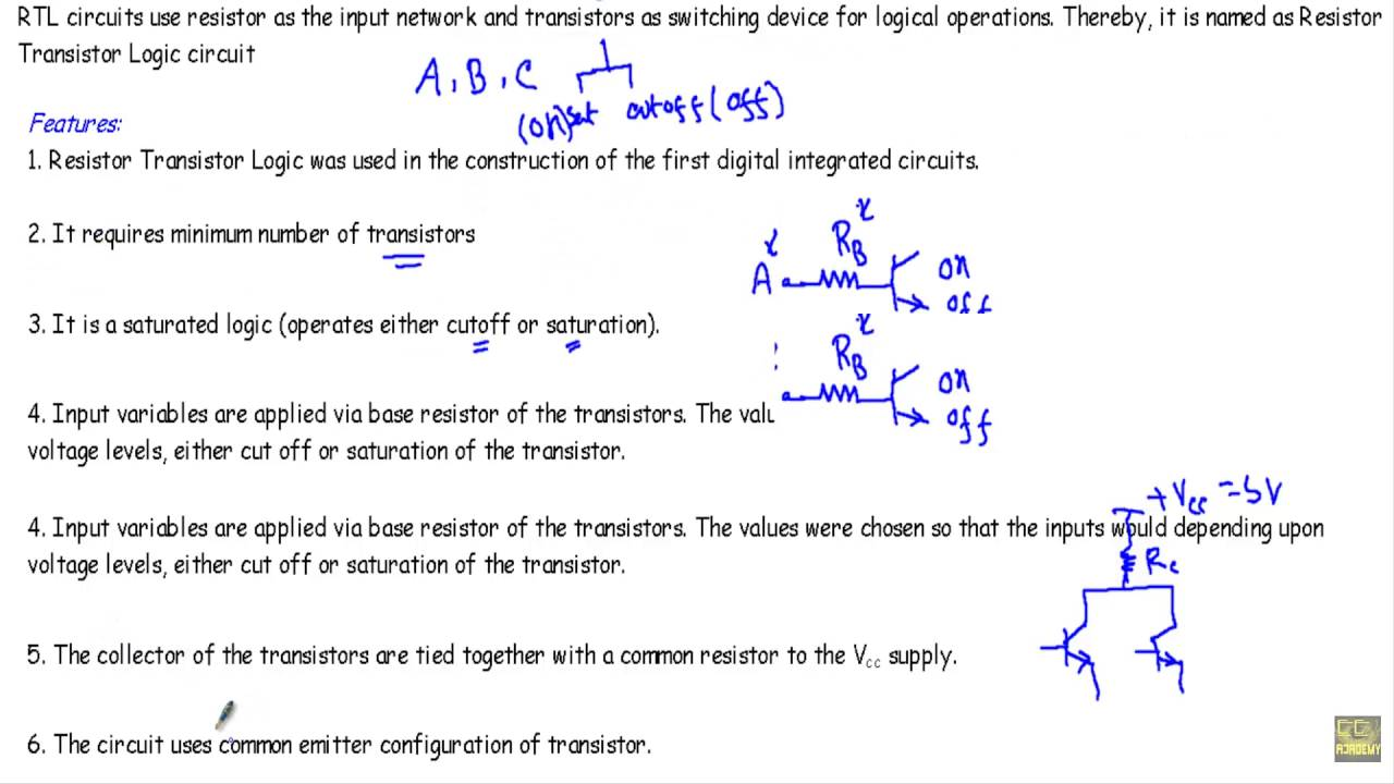 introduction to resistor transistor logic family youtube rh youtube com