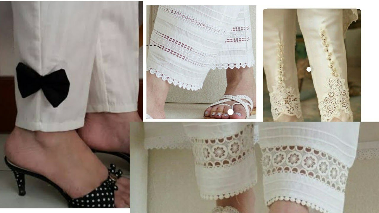 latest White trousers design 2020  ladies trouser style 