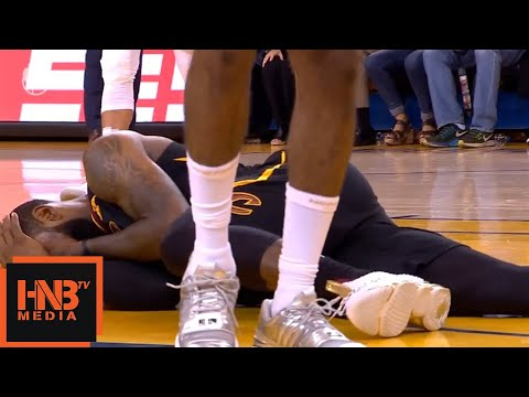 Draymond Green dirty foul on LeBron James / GS Warriors vs Cavaliers Game 1