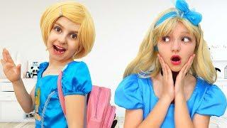 Princess Cinderella and Daughter play Morning Routine