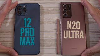 iPhone 12 Pro Max vs Samsung Galaxy Note 20 Ultra SPEED TEST!