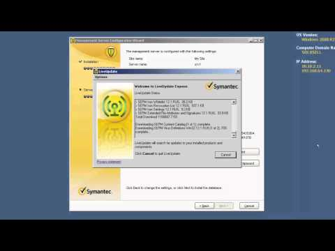 Install Symantec Endpoint Protection Manager 12.1