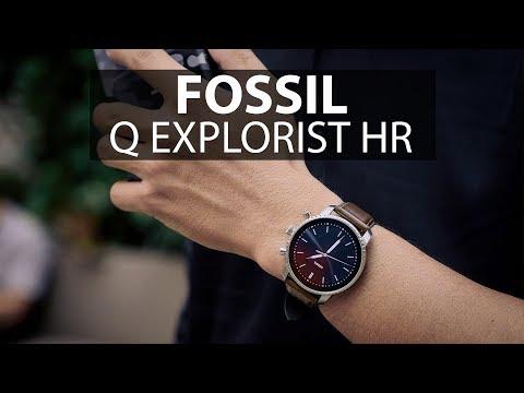Đánh Giá Nhanh Fossil Q Explorist HR, Phiên Bản Dây Da Nâu: Thời Trang Vẫn Là Chủ đạo